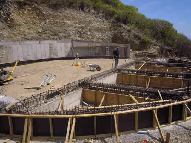 Water Tank Foundations : Tank construction in pointe blanch progressing