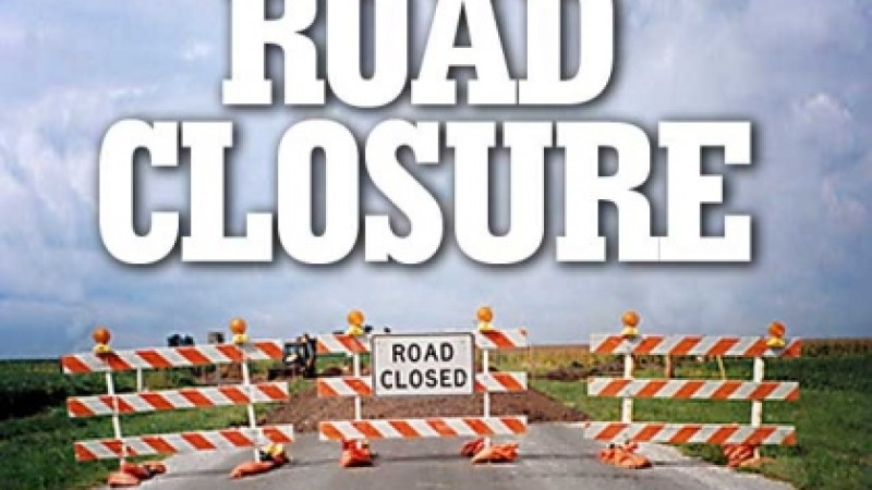 Multiple road closures in Cole Bay on Sunday