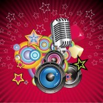 Vector-Music-Background-with-Speaker-and-Microphone