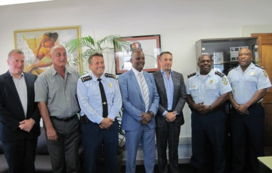 Minister of Justice Meets signs contract with Maho Group of Companies for Rental of a Unit to house the new office of the Community Police for the Maho and surrounding area