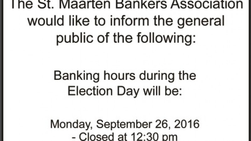 St. Maarten Bankers Association Election Notice