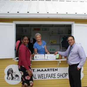 """WIB Staff donate license plates to St. Maarten Animal Welfare Foundation"""