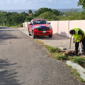 Fire hydrants check on Bonaire