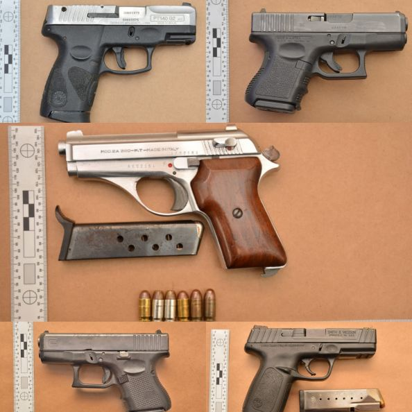 Six illegal guns confiscated in 16 weeks