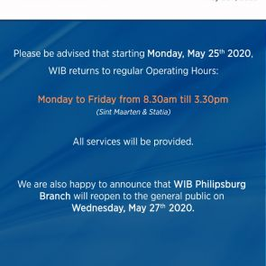 WIB returns to regular operating hours