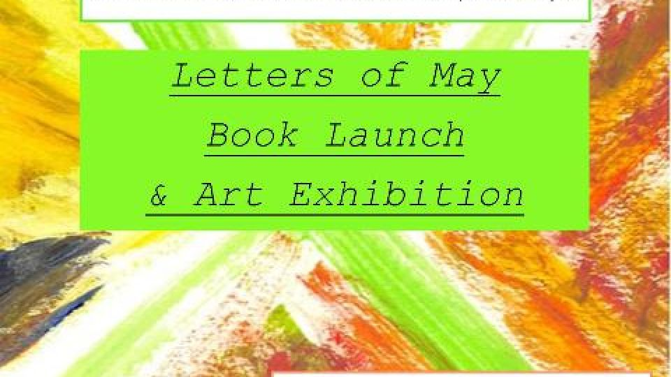 Upcoming letters of may book launch and art exhibition in light upcoming letters of may book launch and art exhibition in light of mental health awareness month stopboris Images