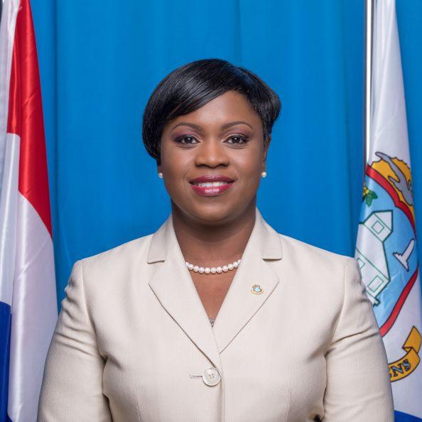 Prime Minister Romeo Marlin salutes Government Firemen