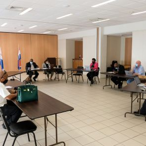 Prime Minister Silveria E. Jacobs meets with CCSU Membership