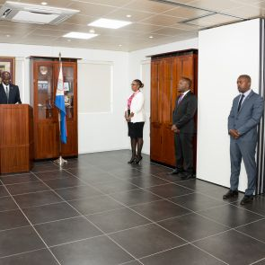 REMARKS AT THE SWEARING IN CEREMONY OF THE NEW GOVERNMNET  by His Excellency drs. Eugene B. Holiday Governor of Sint Maarten
