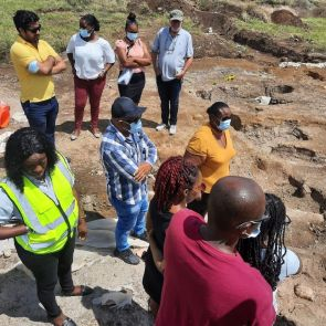 ISLAND COUNCIL MEMBERS VISIT BURIAL GROUNDS