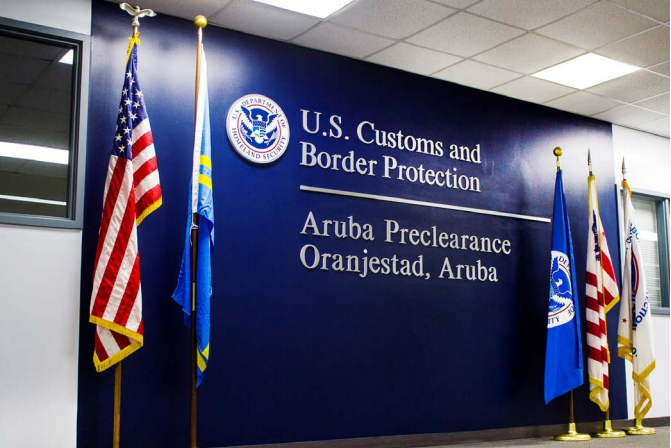 United States Customs and border Protection Introduces Simplified Arrival to Secure and Streamline International Arrivals at Aruba International Airport
